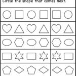 Kindergarten Worksheet | Pattern Worksheet, Patterning