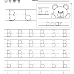Letter B Writing Practice Worksheet. This Series Of