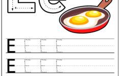 Letter E Preschool Worksheets