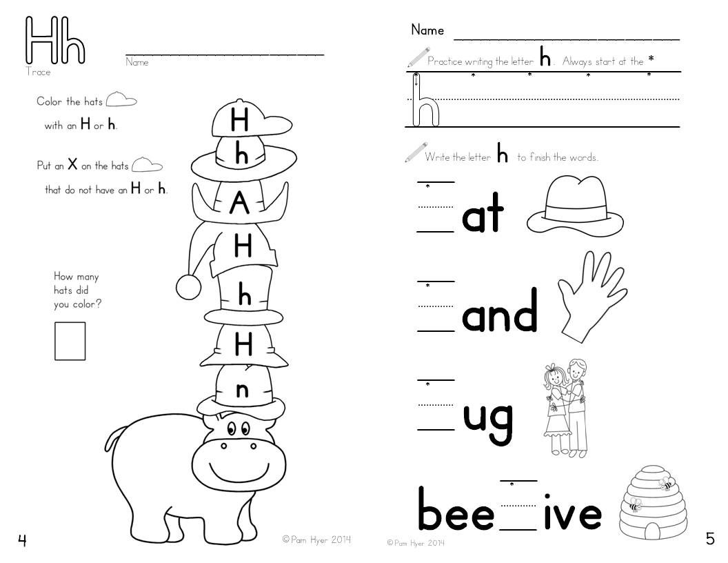 Letter H Worksheet - Learning My Letters Bookletpam Hyer