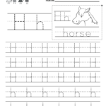 Letter H Writing Practice Worksheet. This Series Of