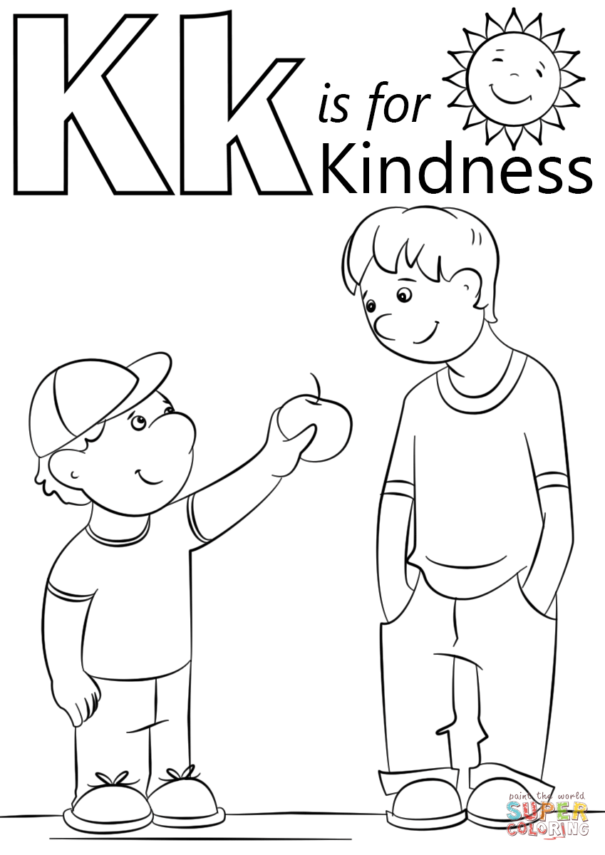 Letter K Is For Kindness Coloring Page | Free Printable