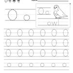 Letter O Writing Practice Worksheet   Free Kindergarten