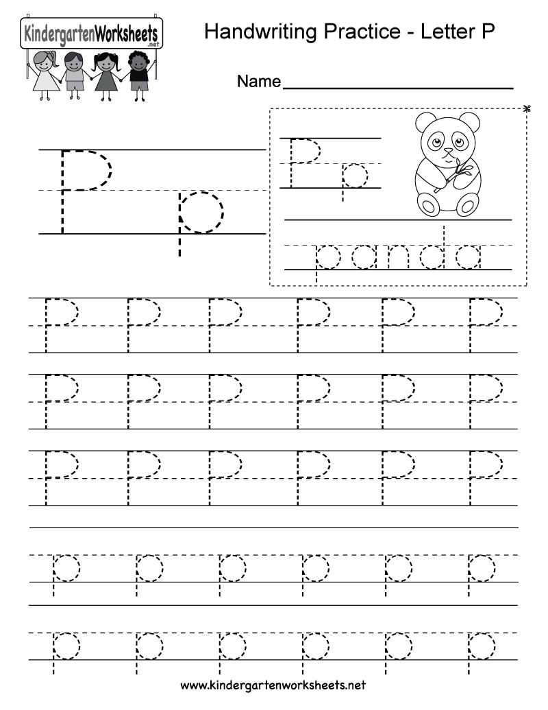 Letter P Worksheets To Download. Letter P Worksheets