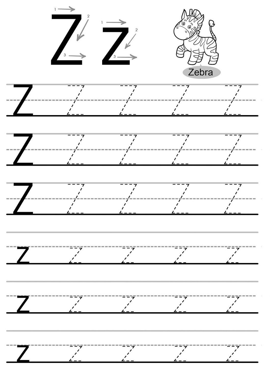Letter Worksheets To For Preschoolers Kindergarten Year