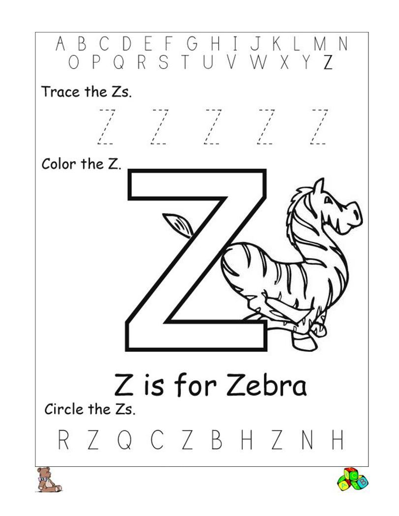 Letter Z Worksheets | Letter Worksheets For Preschool