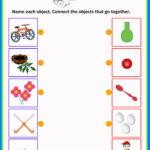 Match It 6 Objects Toddlers Worksheets   Preschool Math