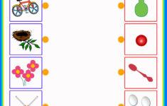 Preschool Worksheets Matching Objects