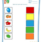 Match The Objects With Colours   Worksheet   1   Teaching My