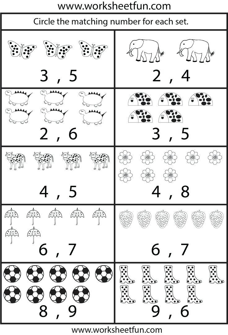 Math Worksheet ~ Kindergarten Readiness Worksheets Printable