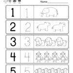 Math Worksheet : Preschool Worksheet Using Numbers Free