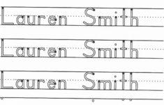 Printable Name Tracing