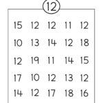 Number 12 Worksheet Circle | Numbers Preschool, Preschool