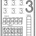 Number 3 Worksheet For Kids | Preschool Number Worksheets