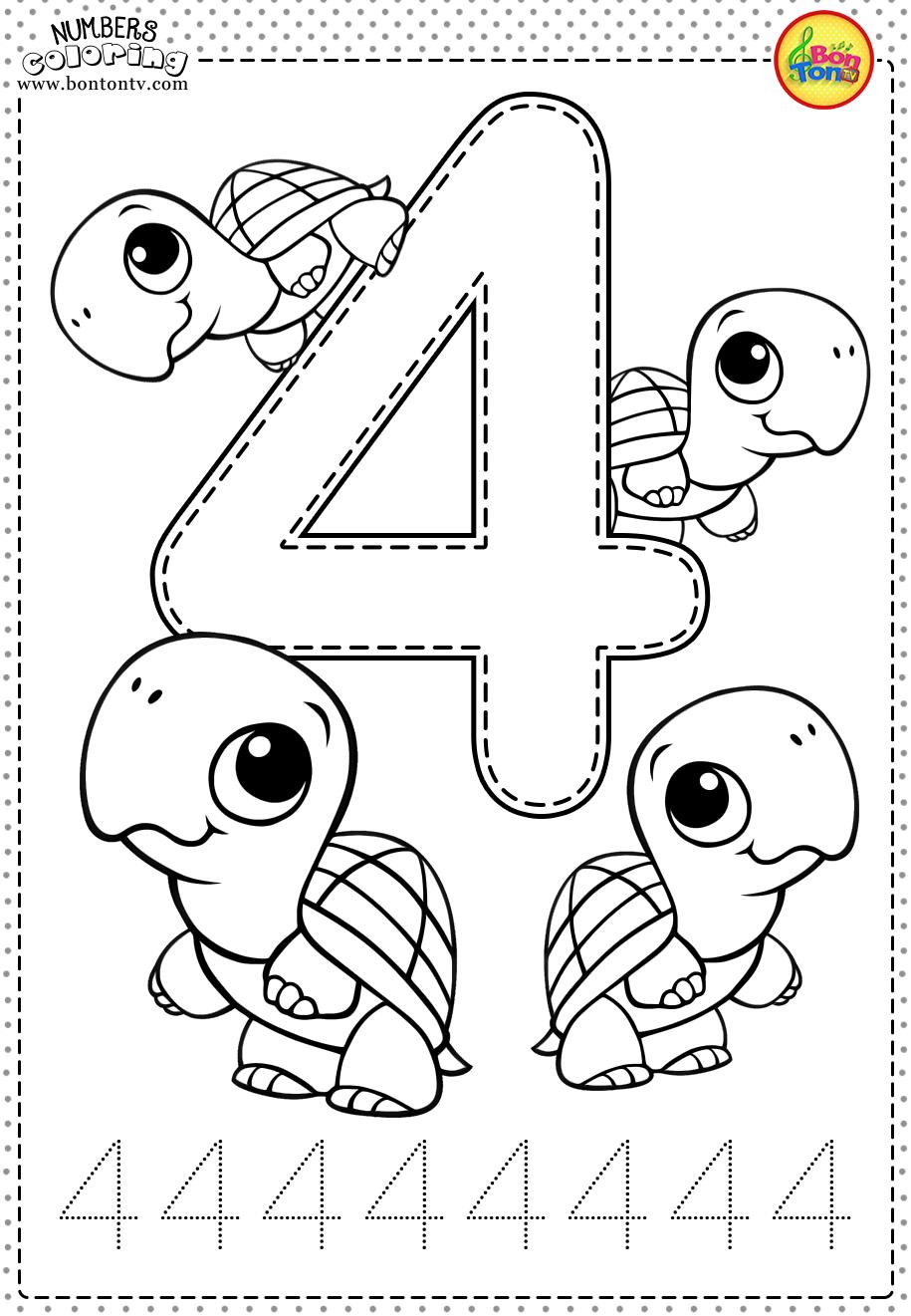 Number 4 - Preschool Printables - Free Worksheets And