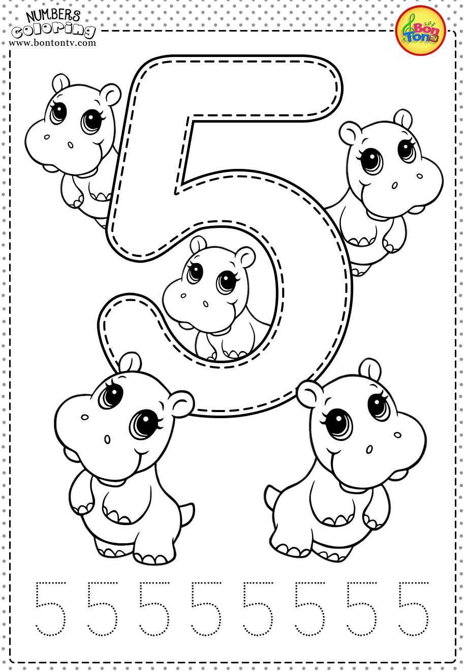 Number 5 - Preschool Printables - Free Worksheets And Co