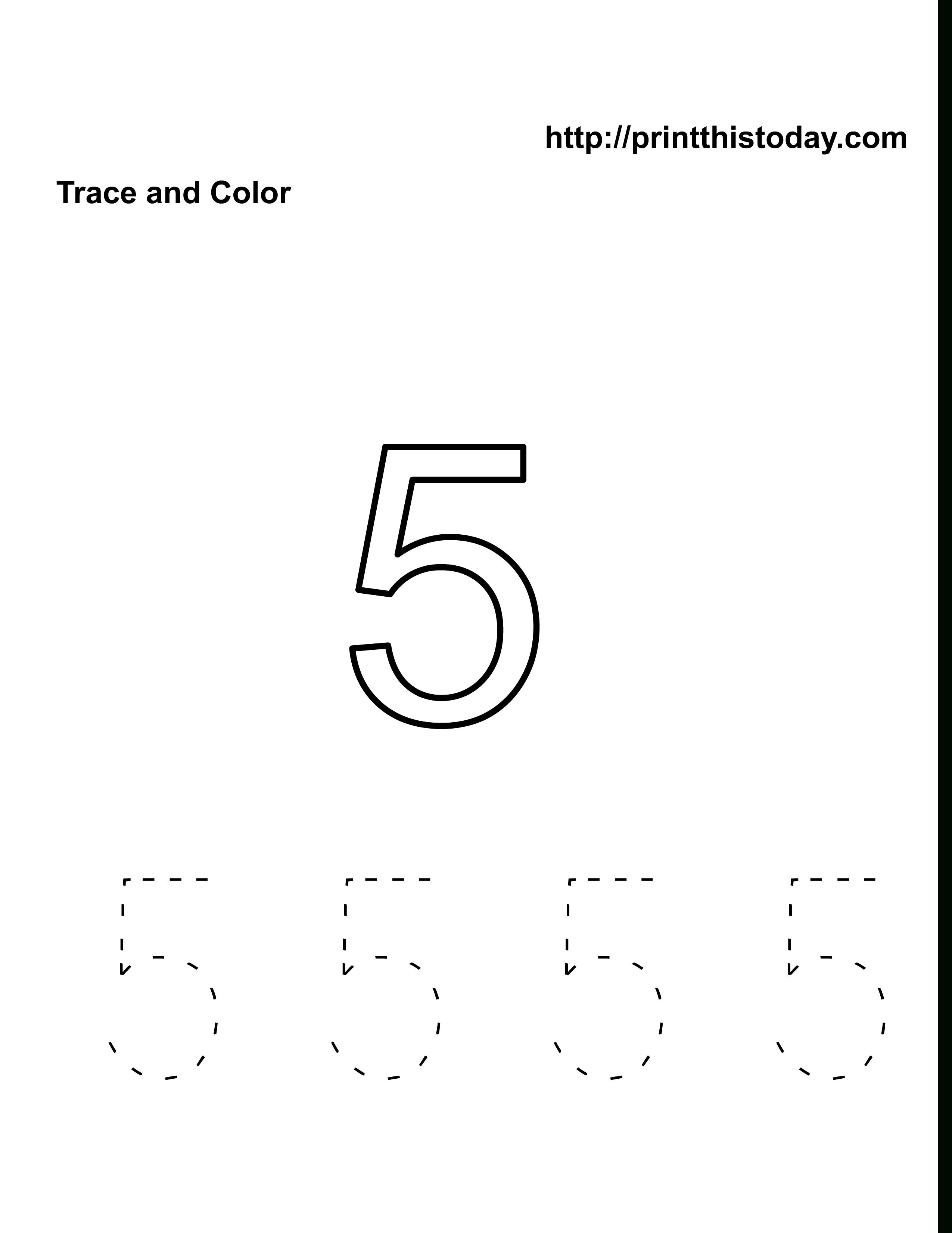 Number 5 Worksheets For Preschool   Number 5 Worksheets