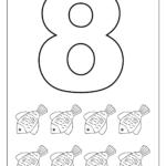 Number 8 Worksheets For Children | Kindergarten Coloring