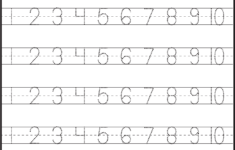 Preschool Worksheets Numbers 1-10