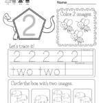 Number Two Worksheet   Free Kindergarten Math Worksheet For Kids