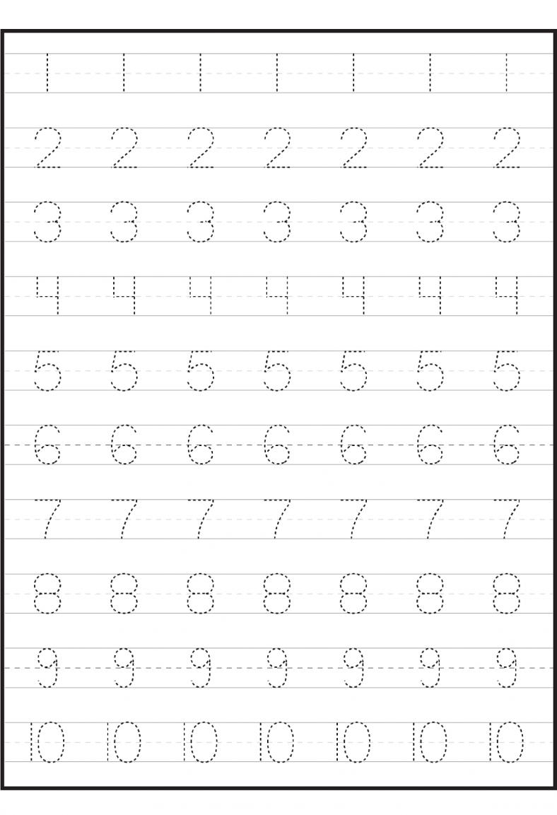 Number Worksheets For Children | Tracing Worksheets