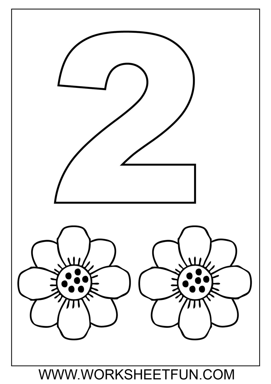 Numbers Colouring Sheets 02   Numbers Preschool, Preschool