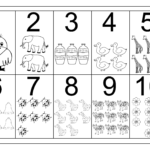 Picture Number Chart 1 10 | Numbers Preschool, Free
