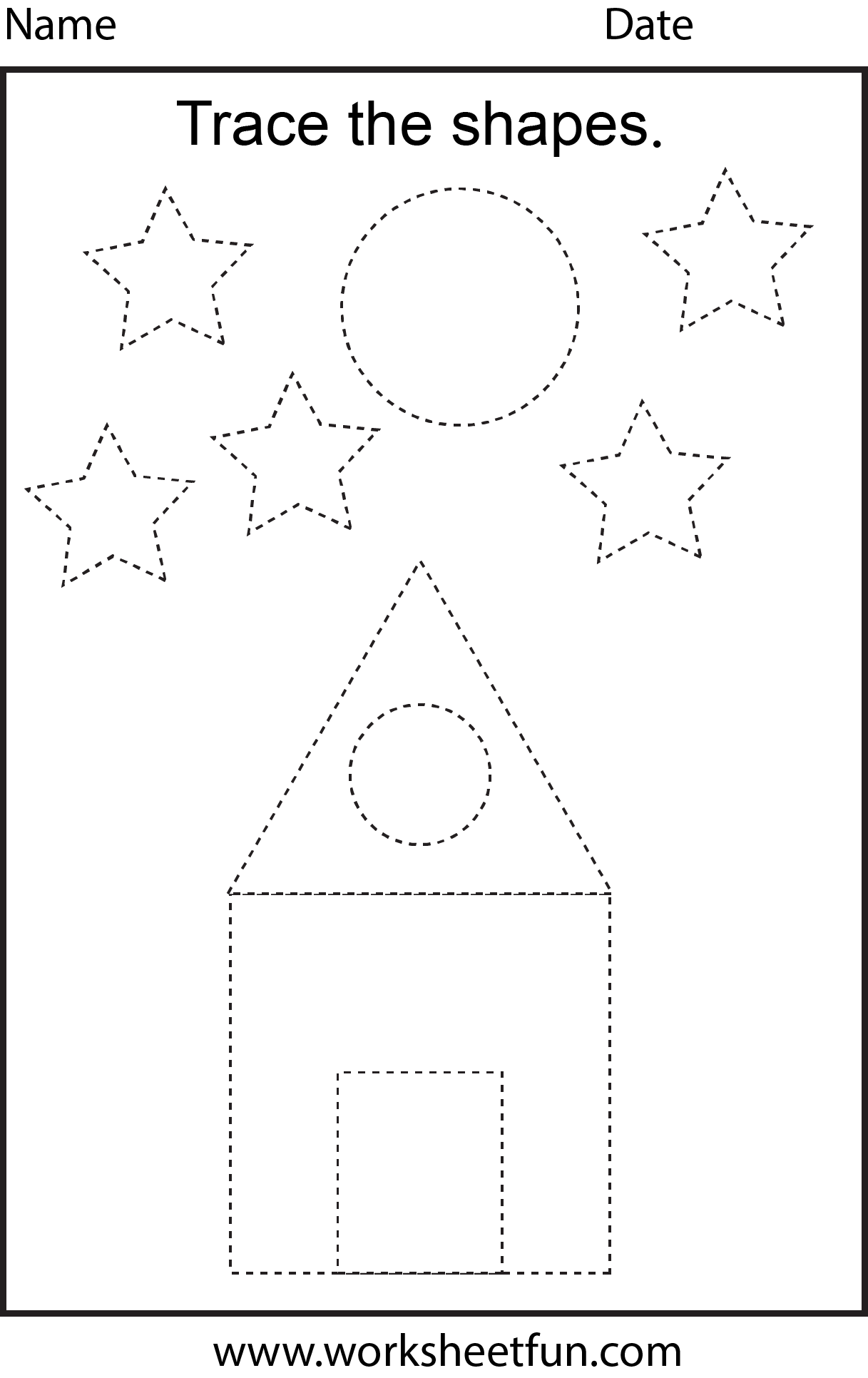 Picture Tracing – 2 Worksheets | Free Preschool Worksheets