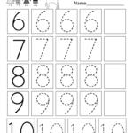 Practice Writing Numbers Worksheet   Free Kindergarten Math