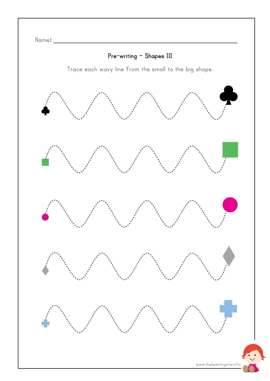 Pre Writing Worksheets For Kids   Pre Writing Activities