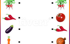 Preschool Vegetable Worksheets