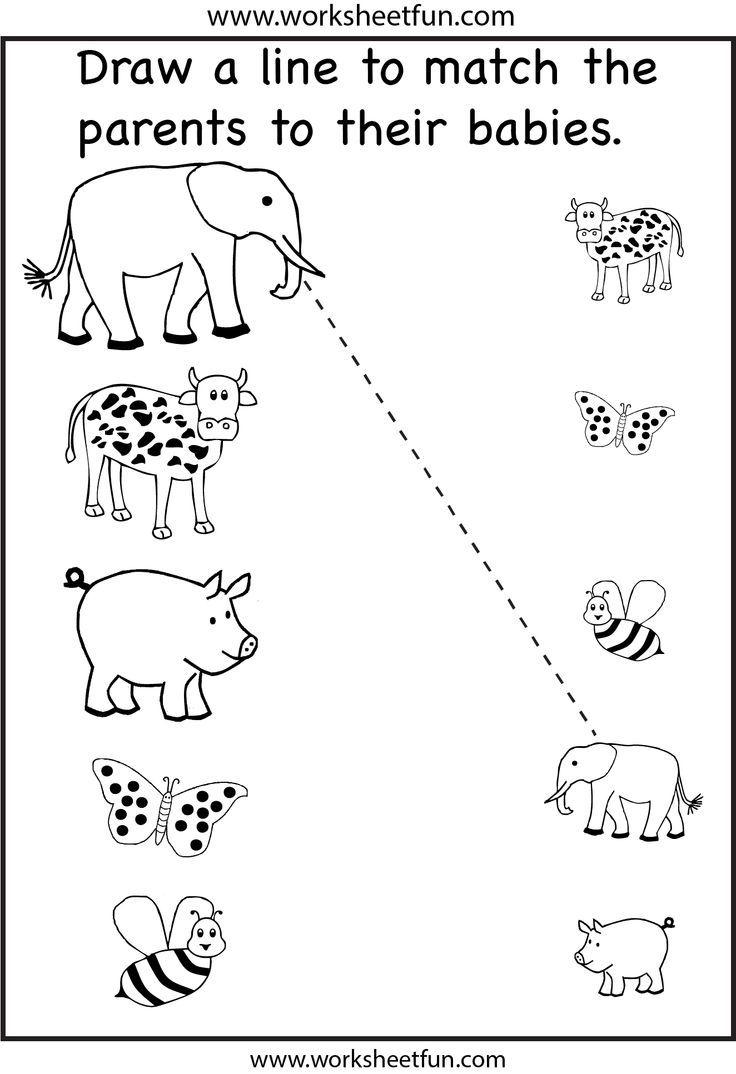 Preschool Matching Printable Worksheet | Fun Worksheets For