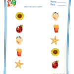 Preschool Printable Worksheets   Match The Same Objects   1