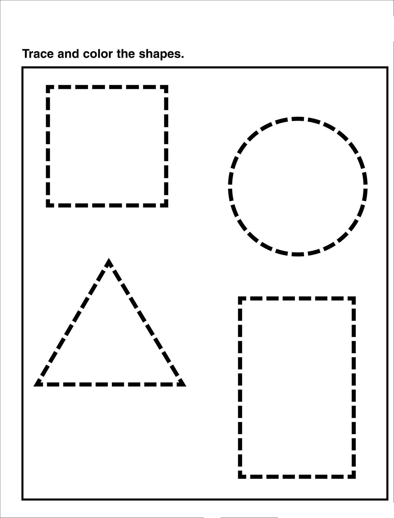 Preschool Tracing Pages | Shape Tracing Worksheets, Shape