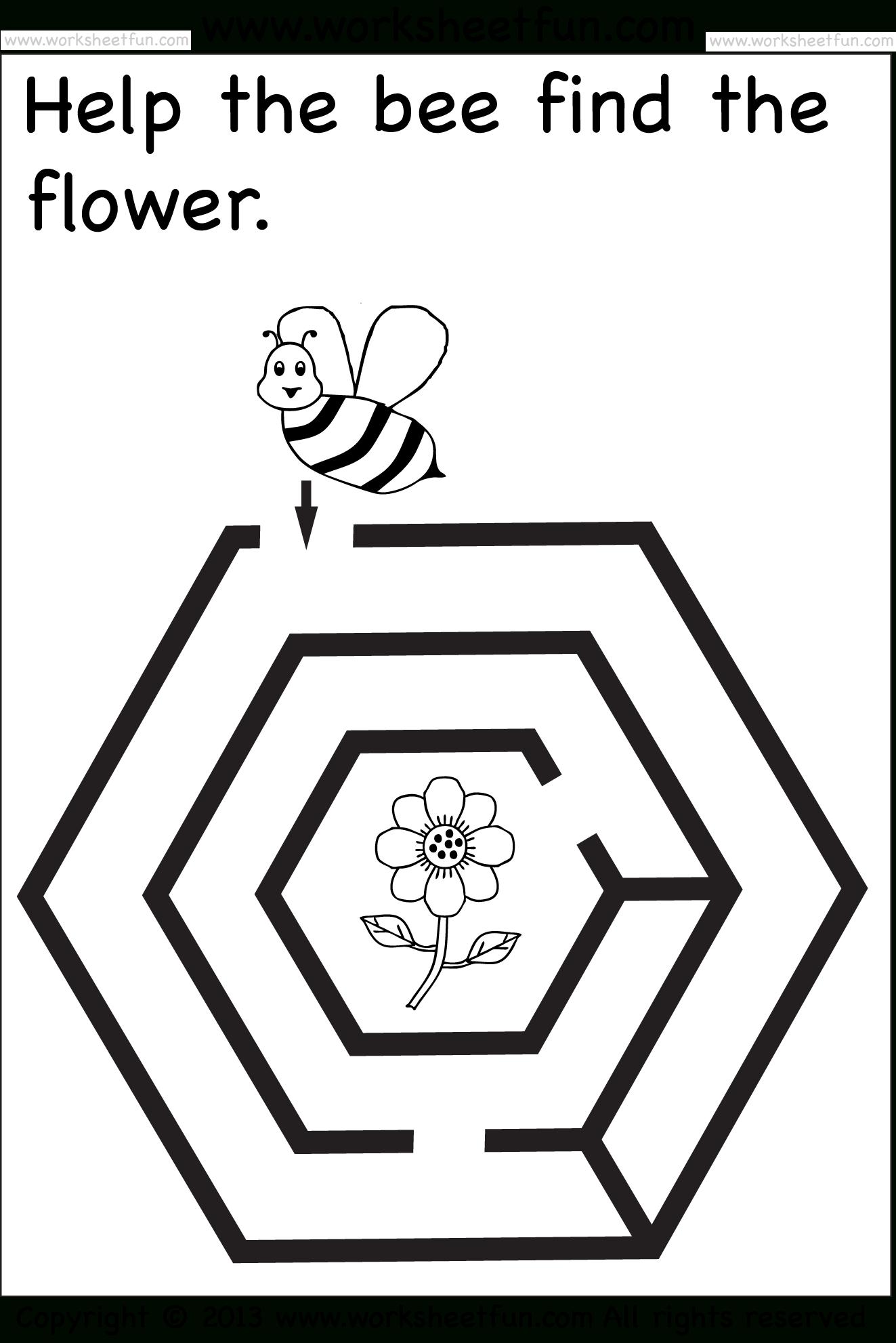 Preschool Worksheets | Mazes For Kids Printable, Free