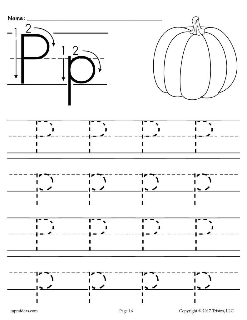 Printable Letter P Tracing Worksheet!   Letter P Worksheets