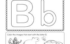 Kindergarten Worksheets Letters