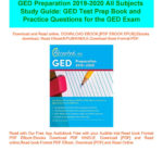 Read] Ged Preparation 2019 2020 All Subjects Study Guide Ged