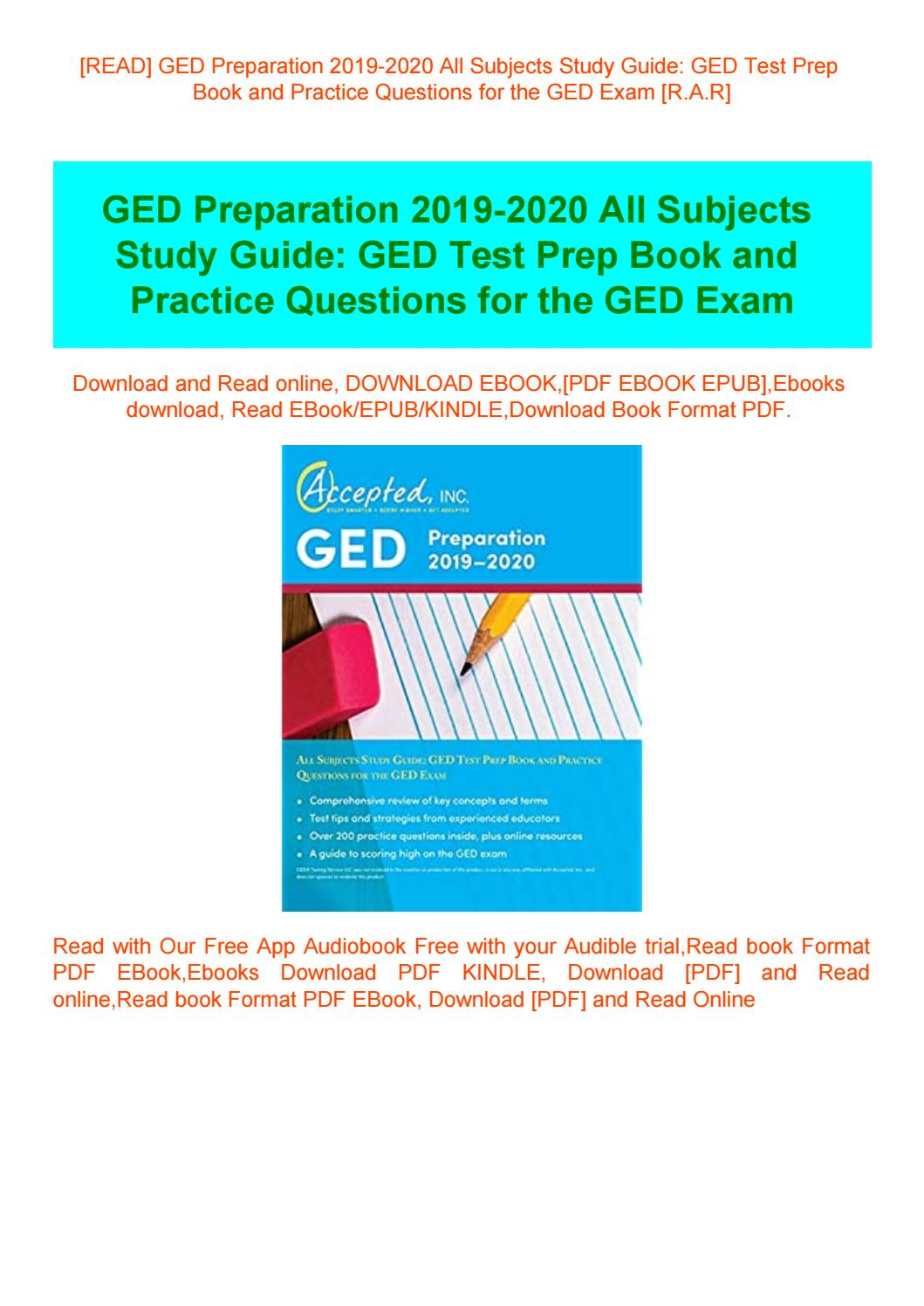 Read] Ged Preparation 2019-2020 All Subjects Study Guide Ged