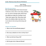 Reading Exercises For 1St Graders Grade Worksheets Best