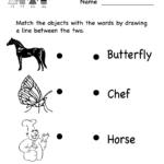 Reading Worksheet   Free Kindergarten English Worksheet For