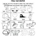 Rhyming Words Worksheets Preschool   Printable Worksheets