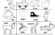 Preschool Worksheets Rhyming