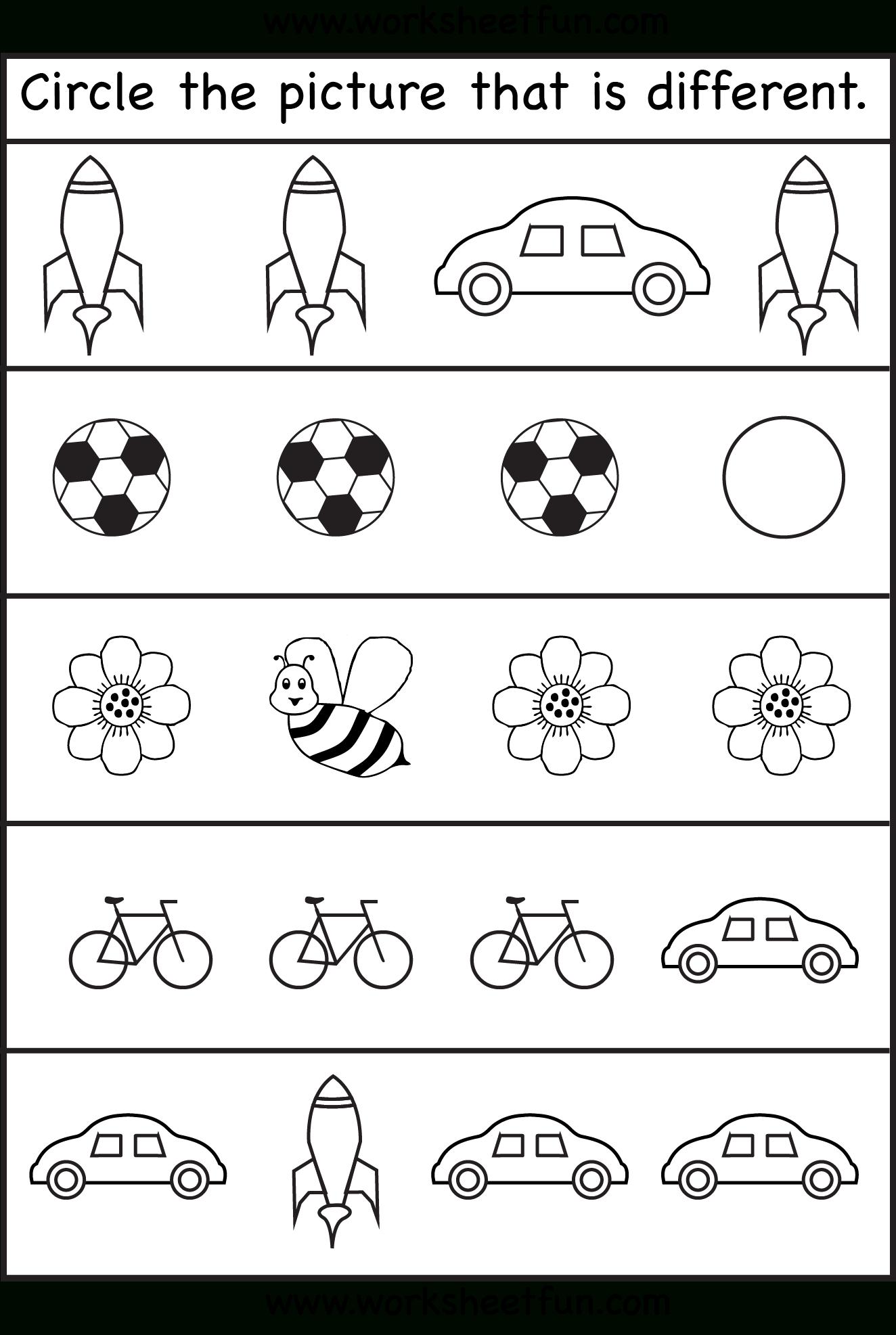 Same Or Different Worksheets For Toddler   Free Preschool