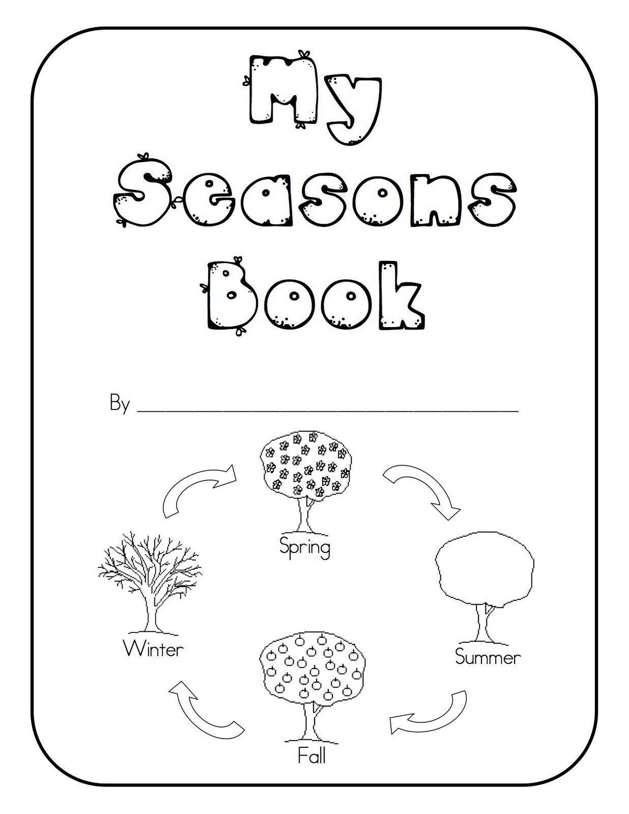 Seasons Printable Activities And Worksheets For Preschool