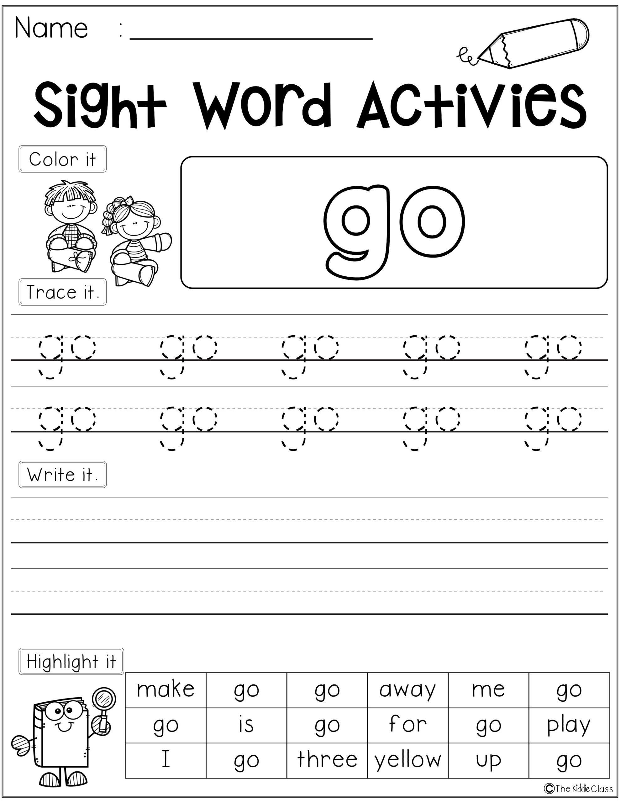 Sight Word Activities (Pre-Primer)   Word Activities, Sight