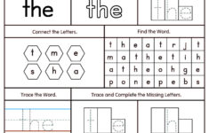 Preschool Worksheets Sight Words