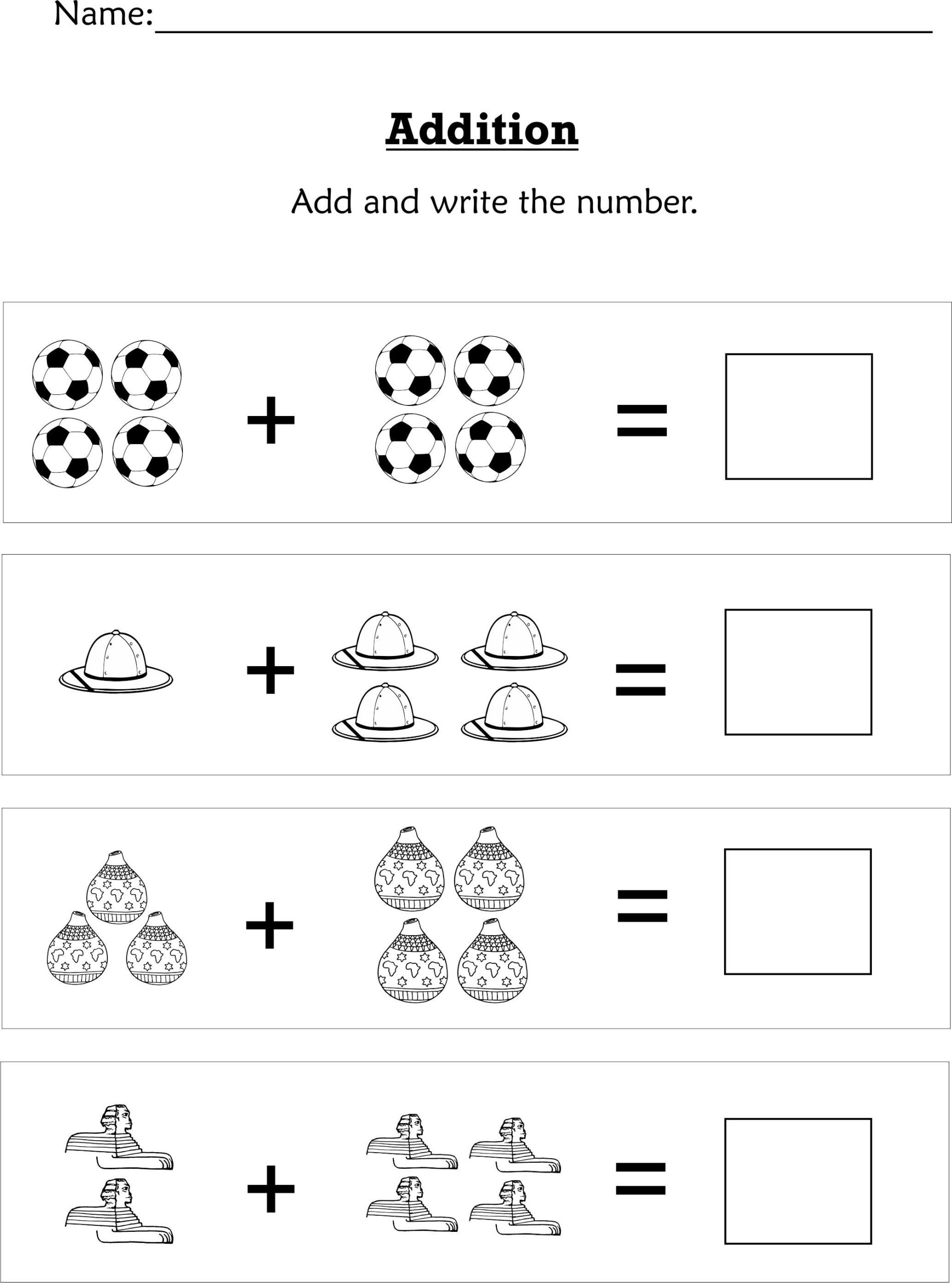 Simple Addition For #preschoolers Or Early #kindergartners