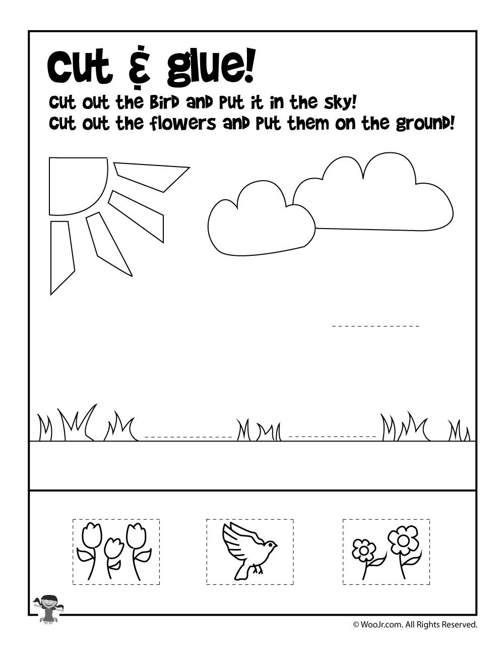 Summer Cut And Paste Worksheet Woo Kids Activities Cutting