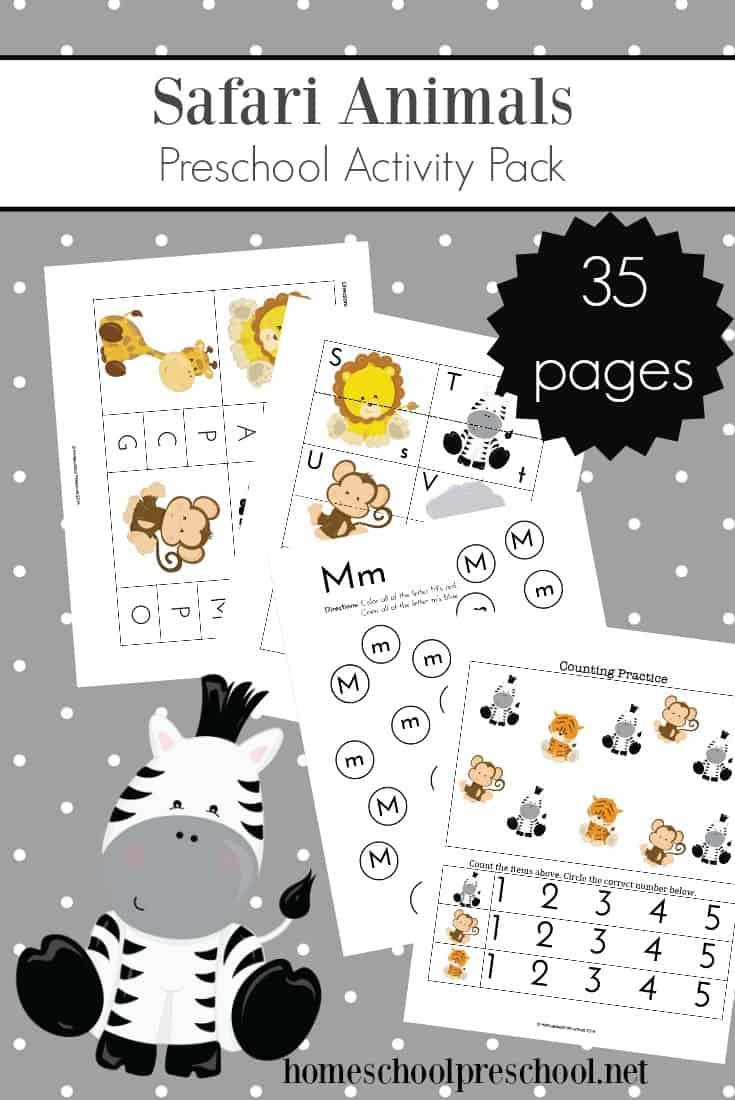 Teach Preschool With Free Jungle Animal Printables Theme